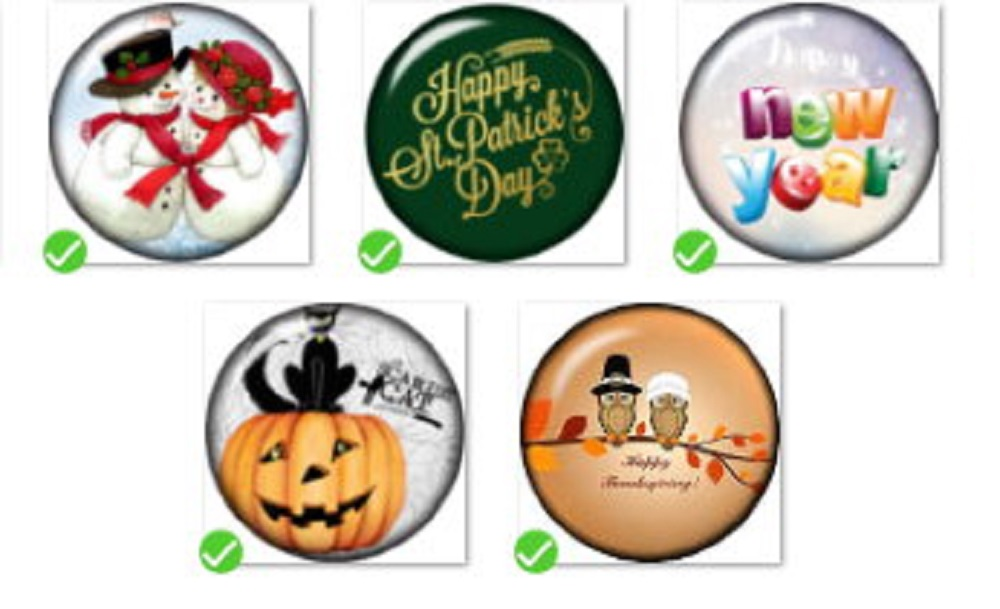 Snap Button Toggle Clasp 18mm   Holiday Charm Collection Collection