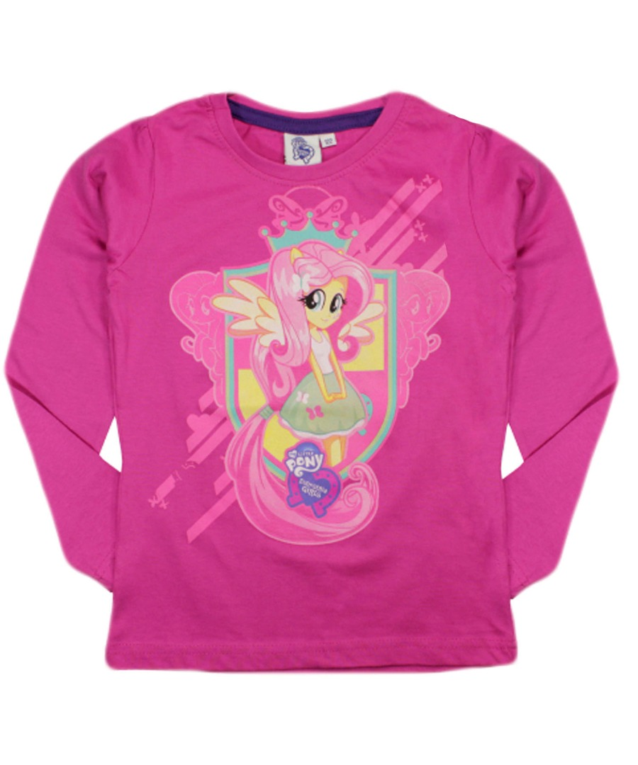 My Little Pony Shirts Children of the 80s know that My Little Pony started in as a toy line from Hasbro. Aimed at young girls, the pony figurines featured bright colors, brushable hair, and familiar shape designs like hearts and rainbows.