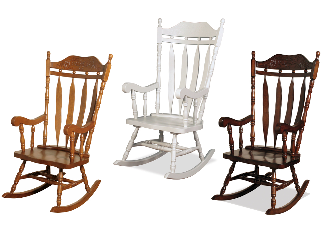 Delicieux Jay Traditional Solid Wood Carved Rocking Chair   Finish : Oak