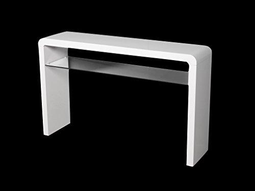 premium selection 51697 2c10f Details about White Hall Console Table Large with Shelf Hallway Bedroom  Living Dining Porch