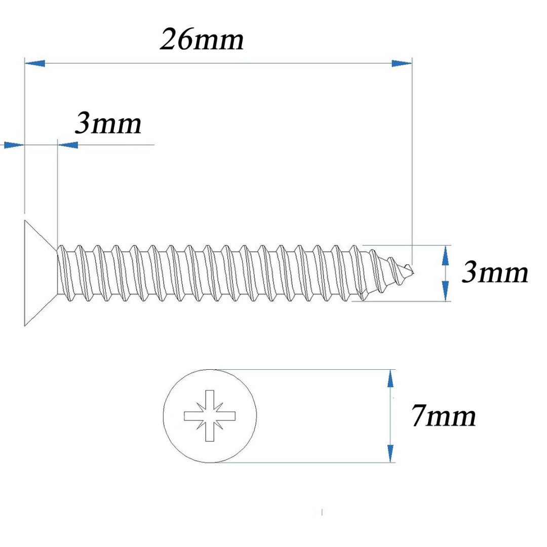 Self-Tapping-Screws-Pozi-Counter-Sunk-A2-Stainless-Steel-Tappers-6-Gauge-Screw-1 thumbnail 8