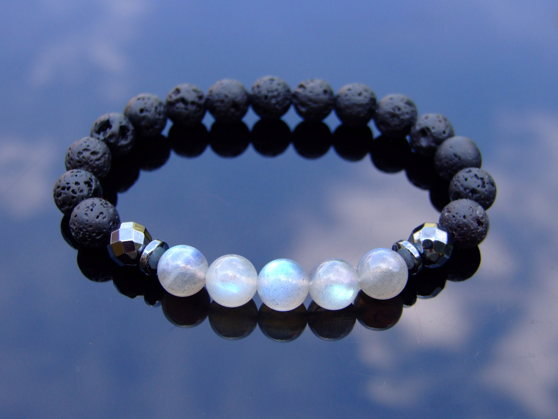 Seraphinite Natural Gemstone Bracelet Beaded 6-9 Elasticated Healing Stone Chakra Reiki With Pouch FREE UK SHIPPING