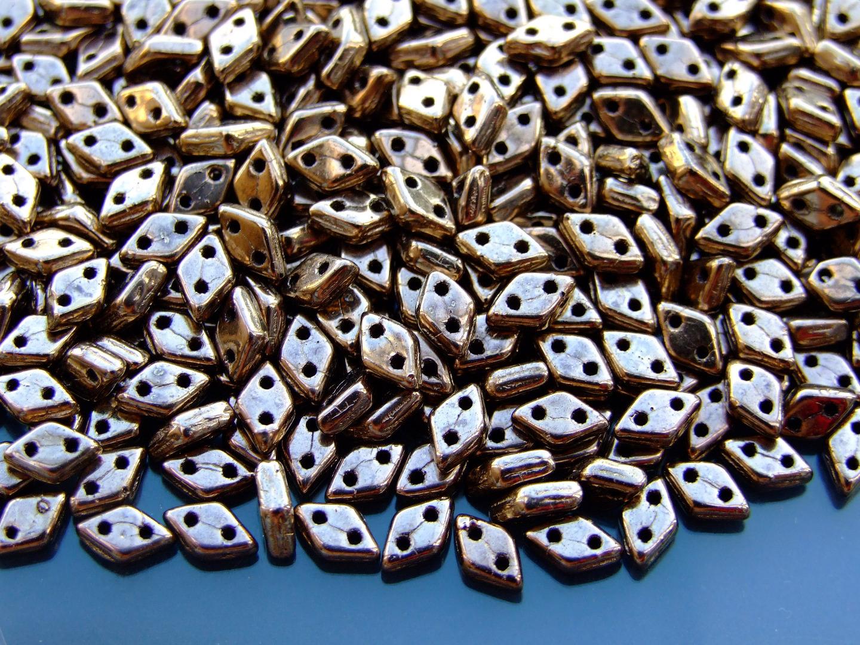 5g Czechmates Diamond Beads 6x4mm Iris Purple