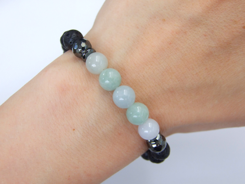 Russian Jade Natural Gemstone Bracelet 6-9/'/' Elasticated Healing Stone Chakra