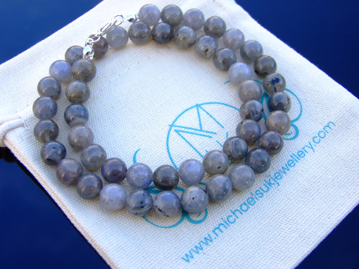 Aa Grade Multi Fluorite Natural Gemstone Necklace 8mm Beaded Silver 16-30inch Healing Stone Chakra Reiki With Pouch FREE UK SHIPPING