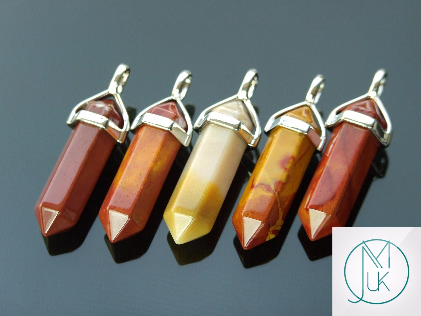 Gemstone-Pendant-for-Necklace-Manmade-or-Natural-Quartz-Crystal-Healing-Stone thumbnail 65