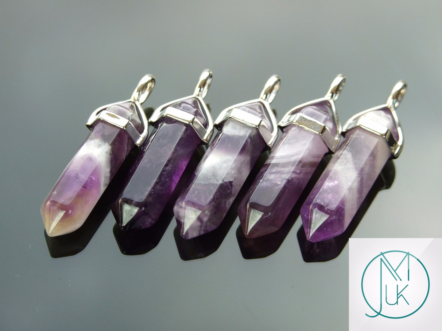 Gemstone-Pendant-for-Necklace-Manmade-or-Natural-Quartz-Crystal-Healing-Stone thumbnail 13