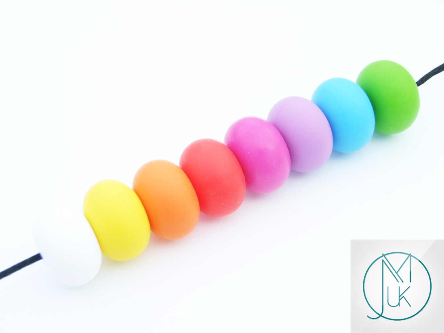 2x Grape Oval Silicone Beads for Teething Jewellery 16 Colors to Choose