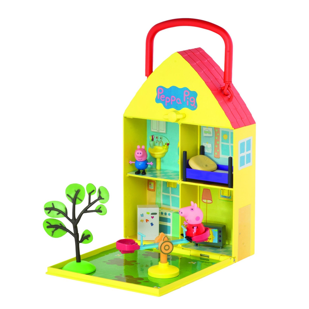 new peppa pig peppa 39 s house garden playset ebay. Black Bedroom Furniture Sets. Home Design Ideas
