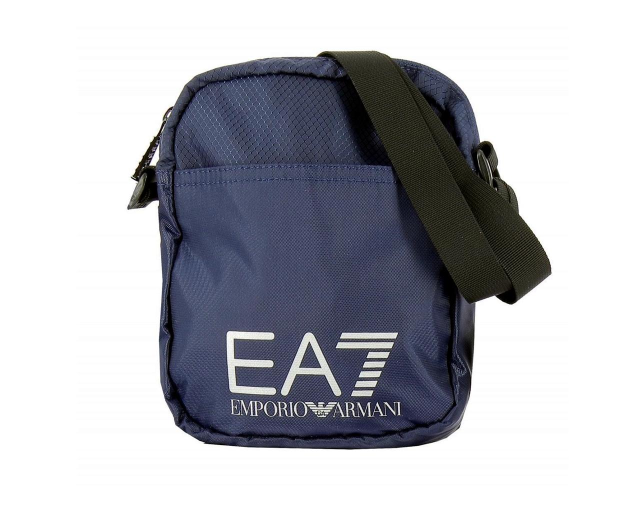 Dettagli su Emporio Armani 275658 CC731 Treno Prime EA7 Messenger Borsa Nera a Tracolla