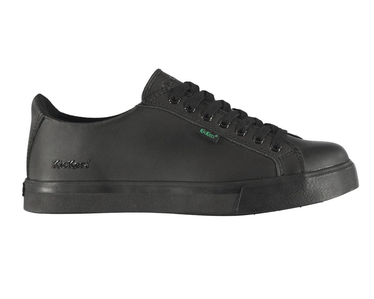 df0a910e Niños Kickers 114728 Tovni Lacer cuero encaje hasta zapatos de niñas  zapatos negro escuela
