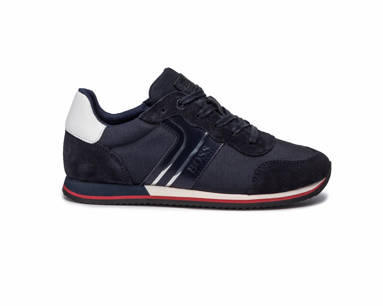 Hugo Boss Baby/'s J09117 849 Suede Boys Trainers Navy Shoes
