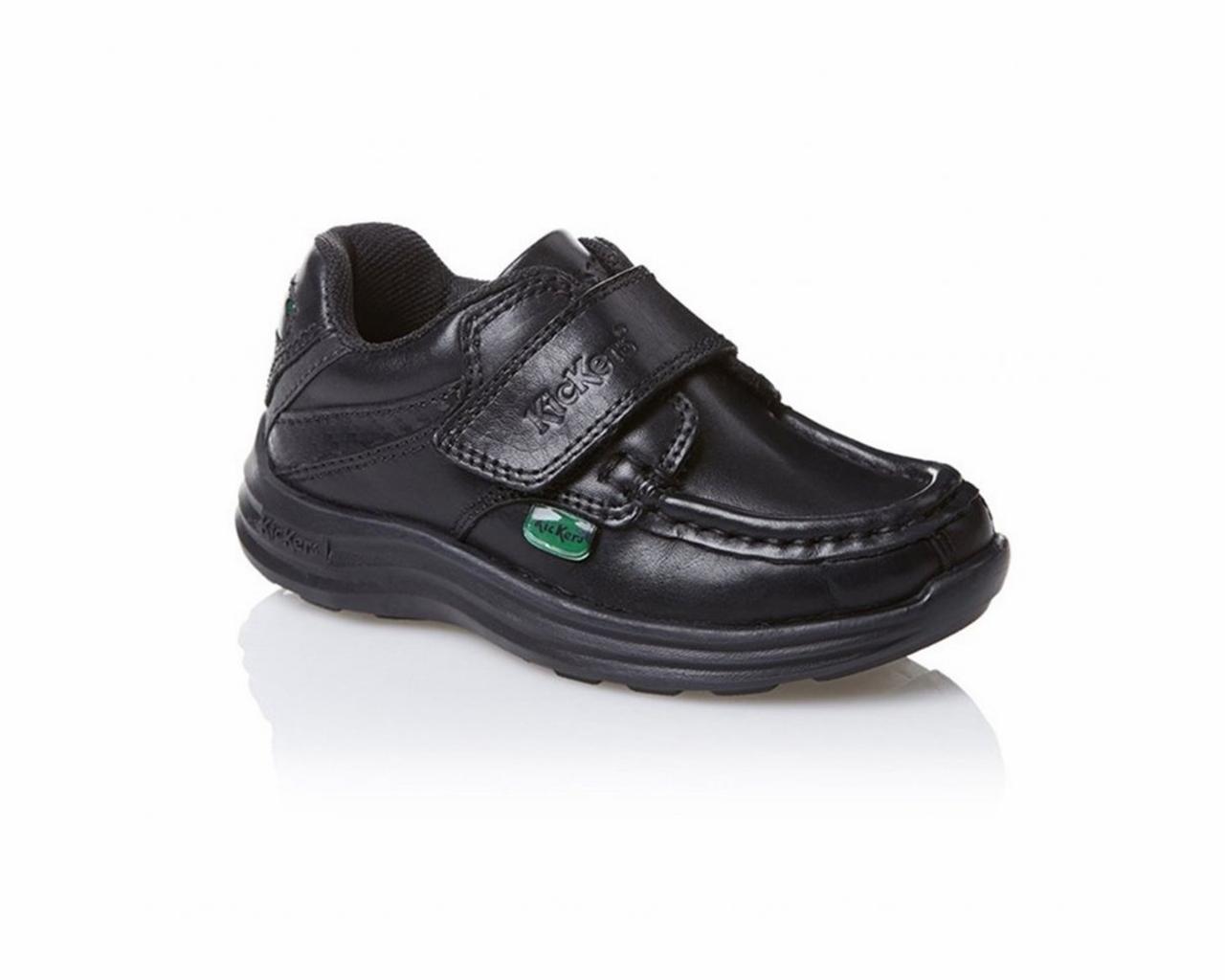 827da5a9e Venta niños Kickers REASAN IM 112833 escuela de los muchachos de cuero  negro zapatos