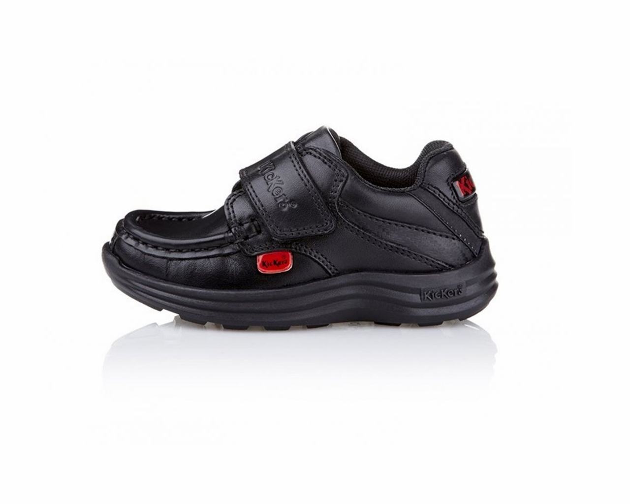 ce9e882c9 Oferta Infantil Kickers Reasan Tira i   M 112833 Cuero Negro Zapatos ...