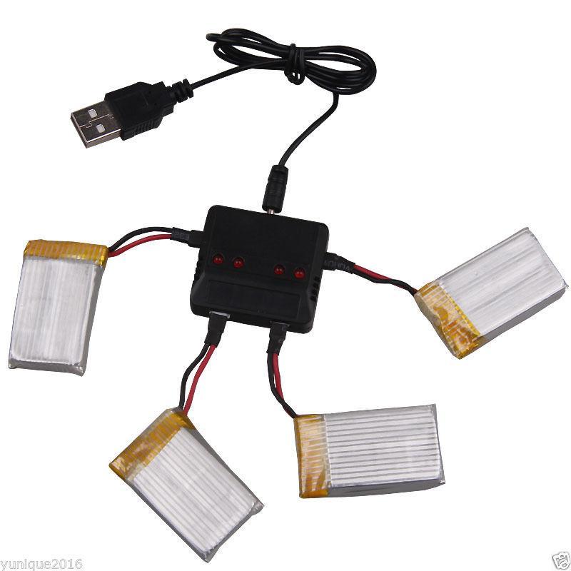 Batteria-3-7V-20C-720mAh-Caricatore-USB-per-RC-Syma-X5C-X5A-Drone-Quadricott