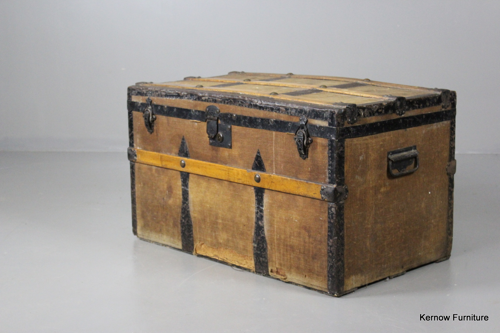 Vintage Antique Slatted Steamer Cabin Travel Trunk Coffee Table Ebay