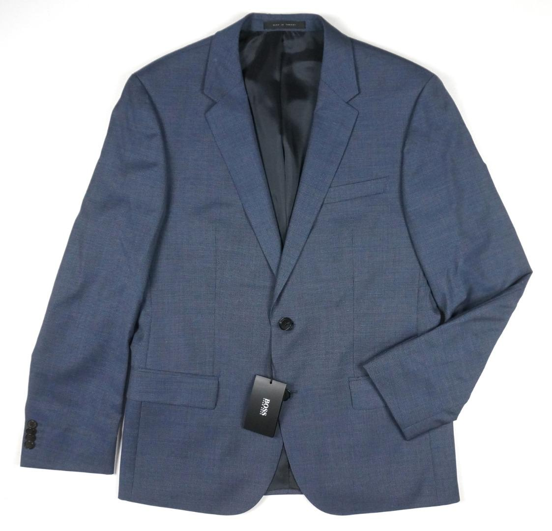 d1491ec15 Details about NEW HUGO BOSS BLUE SUPER 120'S VIRGIN WOOL SLIM HALSEY2  MERRILL2 SUIT 40S