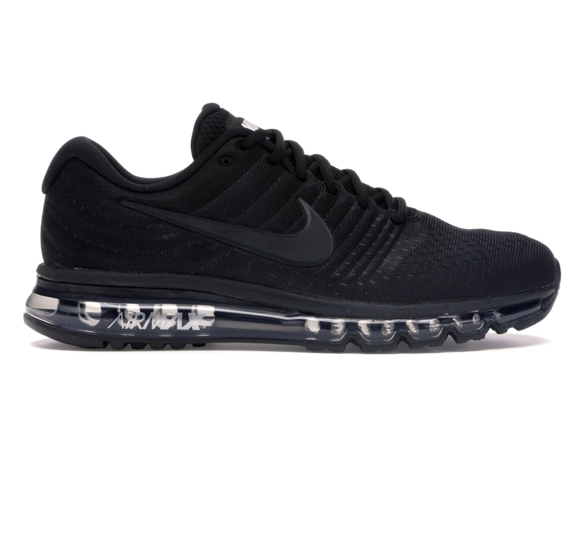 Details about NEW $190 NIKE AIR MAX 2017 TRIPPLE BLACK FLYMESH 849559 004 RUNNING SNEAKERS