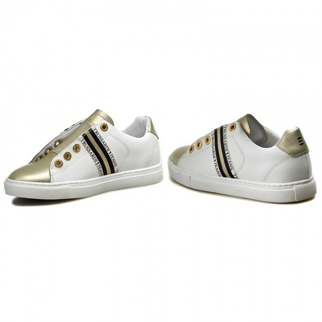 Jeans Ebay Trussardi Biancooro Tewxxzqb Scarpe Sneakers vtfxI7