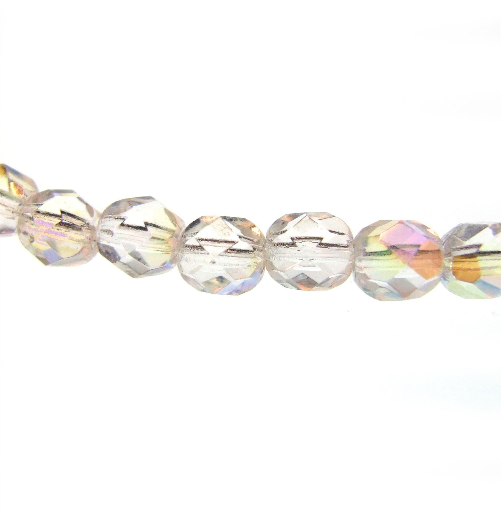 25 pcs czech glass faceted round beads 6mm fire polished for How to cut glass with string and fire