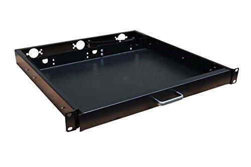 1u rack mount sliding keyboard drawer 19 keyboard tray 738759730663 ebay. Black Bedroom Furniture Sets. Home Design Ideas