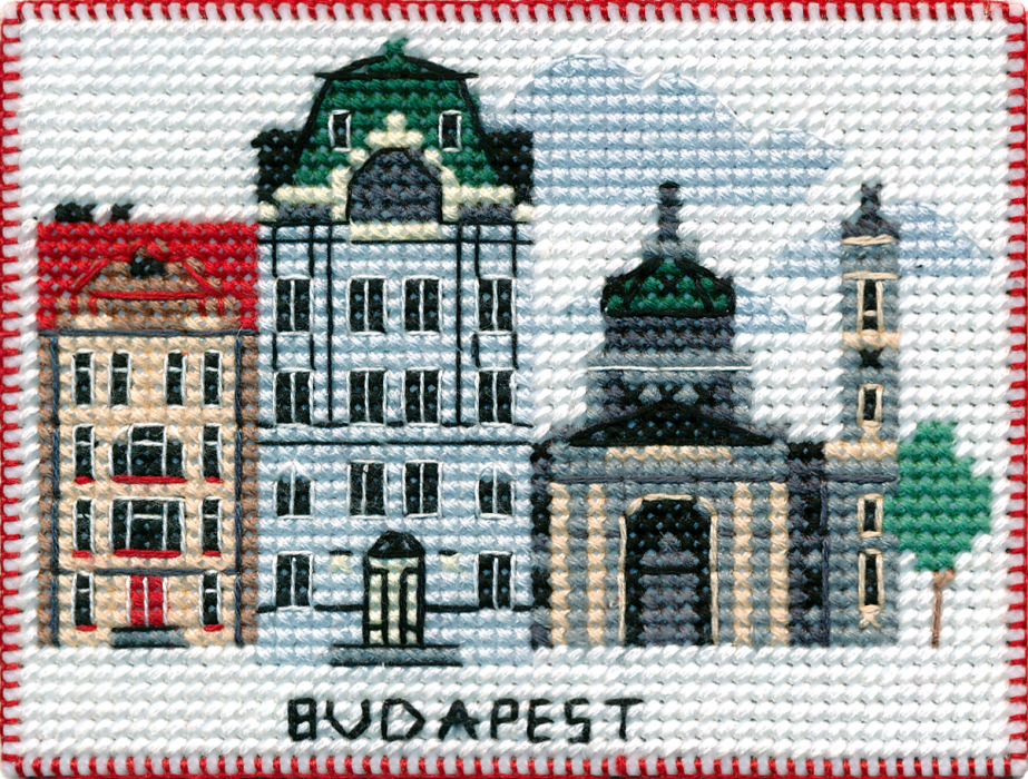 Capitals of the World Oven Counted Cross Stitch Magnet Series Amsterdam