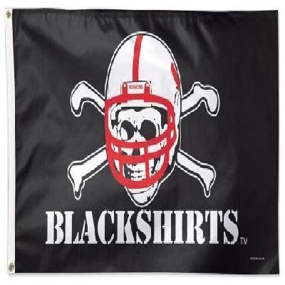 Nebraska Huskers Flag 3x5 Blackshirts