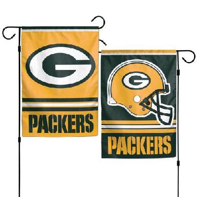 Green Bay Packers Garden Flag 2 Sided Double Logo NFL