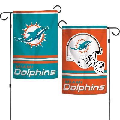 Miami Dolphins Garden Flag 2 Sided Helmet Logo