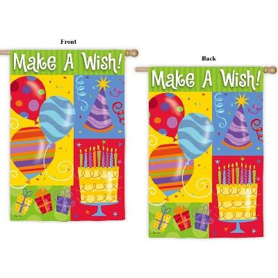 Make A Wish 2 Sided Birthday Flag