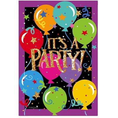 It's A Party 2 Sided Birthday Banner Flag