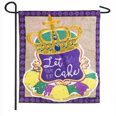King Cake Garden Flag 2 Sided Mardi Gras