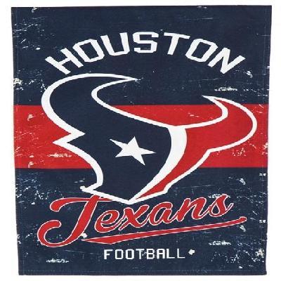 Houston Texans Vintage Throwback Logo 2 Sided NFL Garden Flag