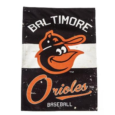 Baltimore Orioles Vintage Logo 2 Sided Garden Flag MLB