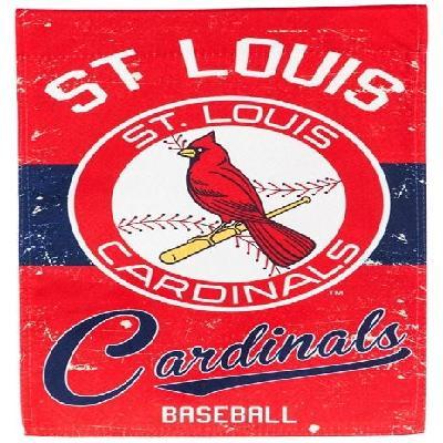 St Louis Cardinals Garden Flag 2 Sided Vintage Distressed Logo
