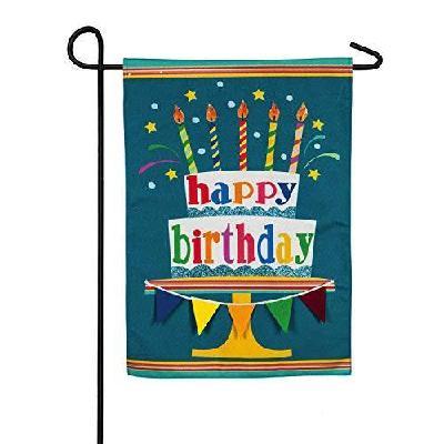 Happy Birthday Garden Flag 2 Sided