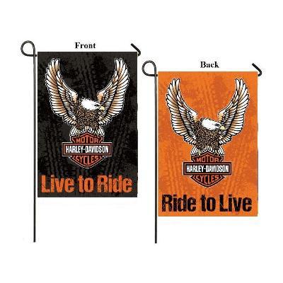 Harley Davidson Garden Flag Born To Ride 2 Sided Logo