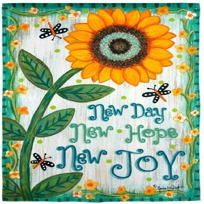 New Day New Hope New Joy Garden Flag 2 Sided