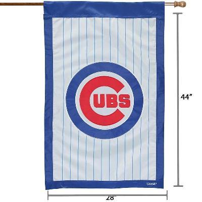 Chicago Cubs 2 Sided Pinstripe Banner Flag MLB