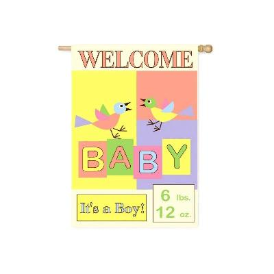 Welcome Baby 2 Sided Banner Flag