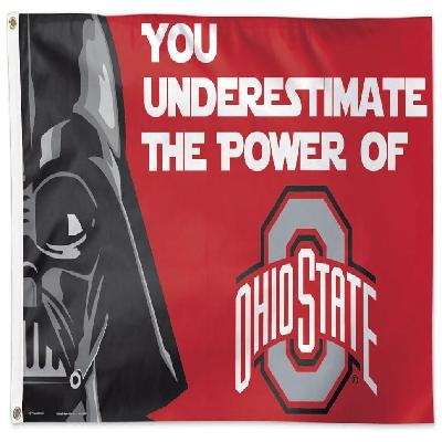 Ohio State Buckeyes Flag 3x5 Star Wars Darth Vader