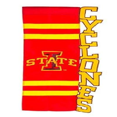 Iowa State House Flag 3D Sculpted Cyclones
