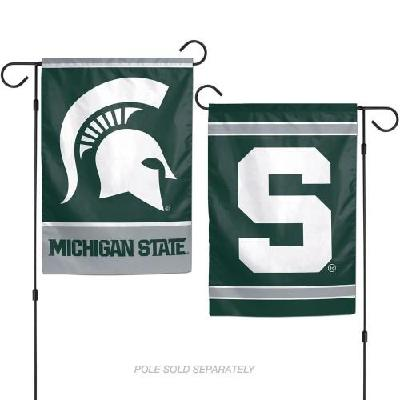 Michigan State Spartans Garden Flag 2 Sided Double Logo