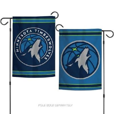 Minnesota Timberwolves Garden Flag 2 Sided Logo