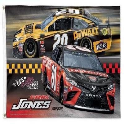 Erik Jones Flag #20 Craftsman 3x5 Race Car 2019
