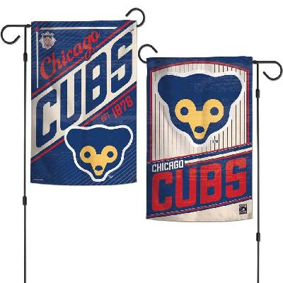 Chicago Cubs Garden Flag 2 Sided Cooperstown Logo