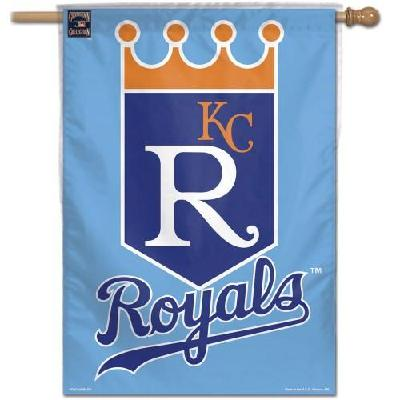 Kansas City Royals House Flag MLB Crown Logo Light Blue