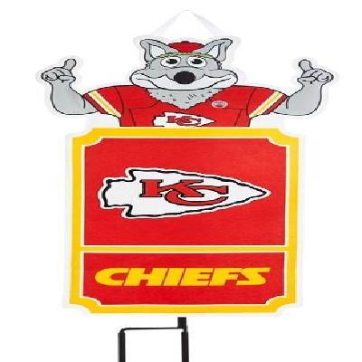 Kansas City Chiefs Flag NFL Statement Stake Door Decoration