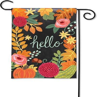 Boho Fall Decorative Garden Flag Hello Fall