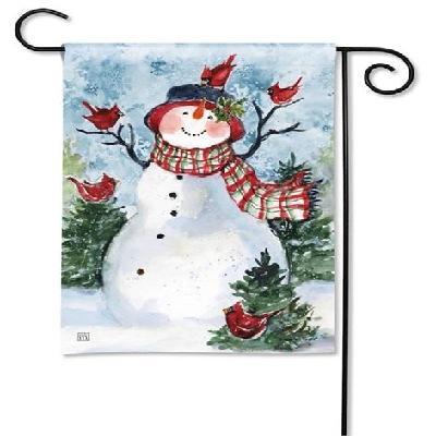 Snowman Friends Garden Flag